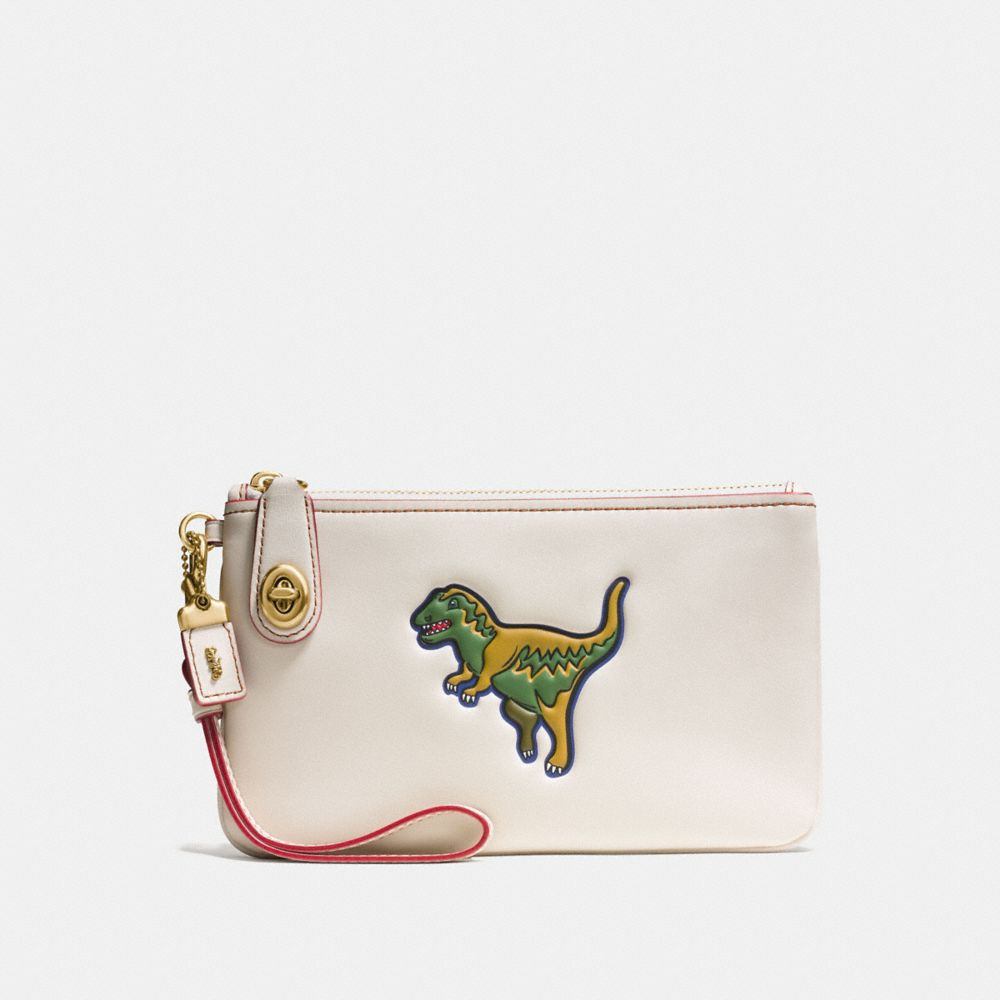 Coach Rexy Turnlock Wristlet 21 in Glovetanned Leather