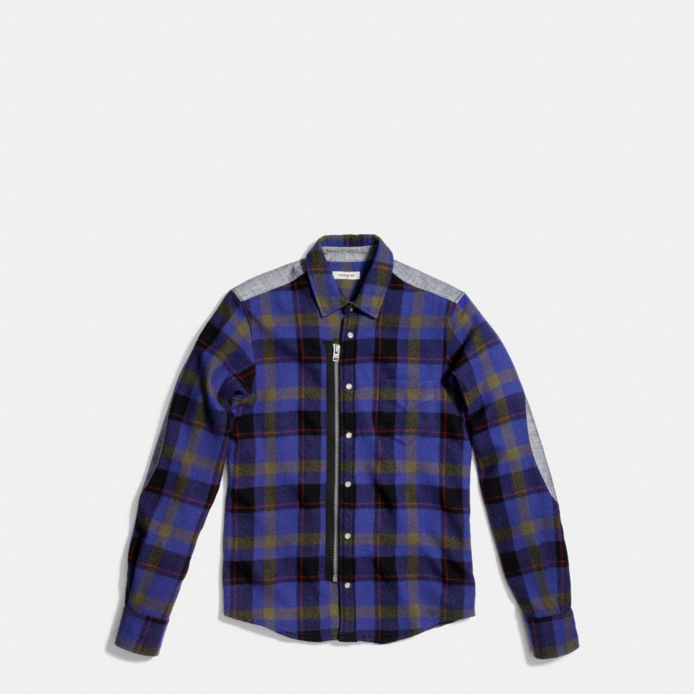 PLAID ZIP SHIRT - Alternate View