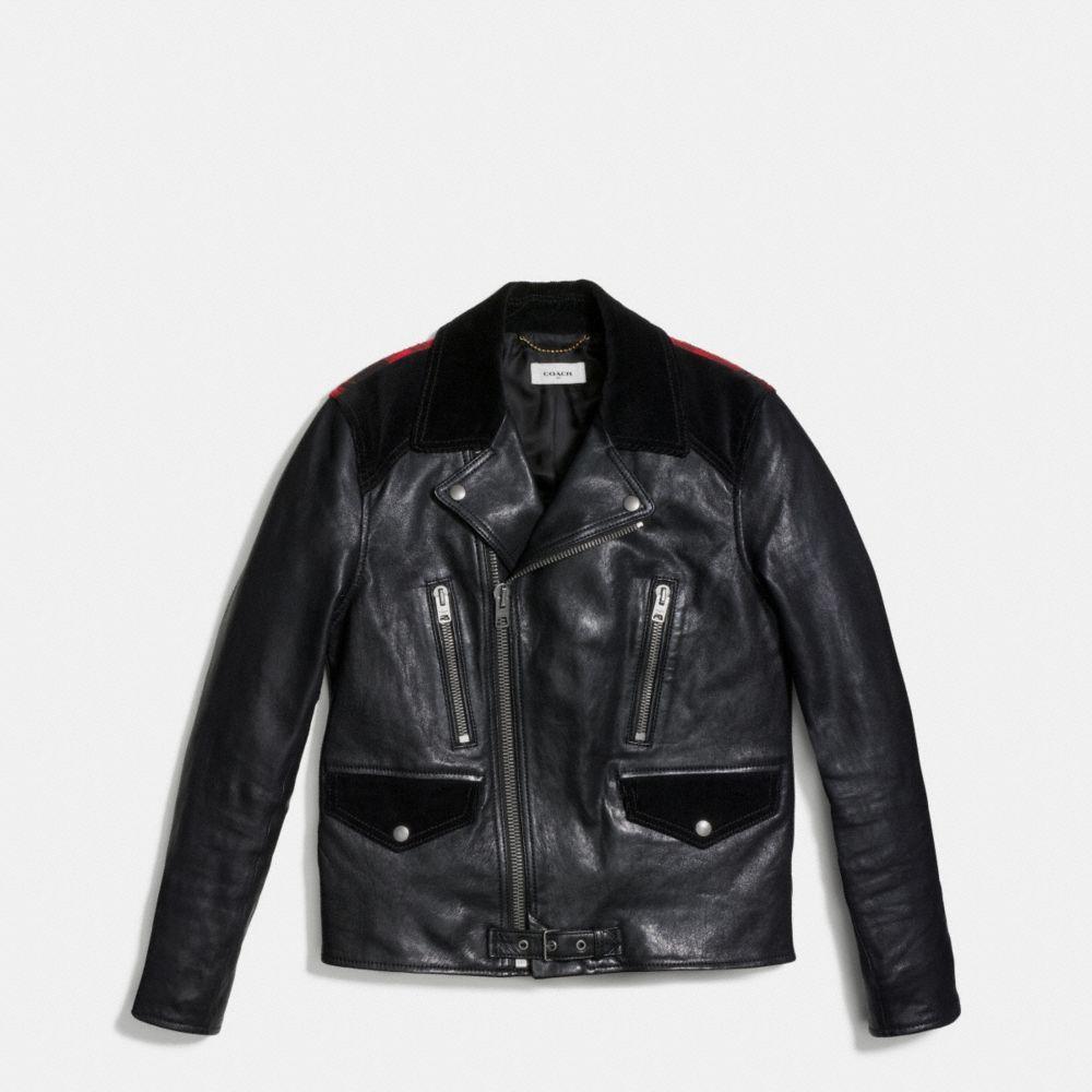 Plaid Mashup Moto Jacket