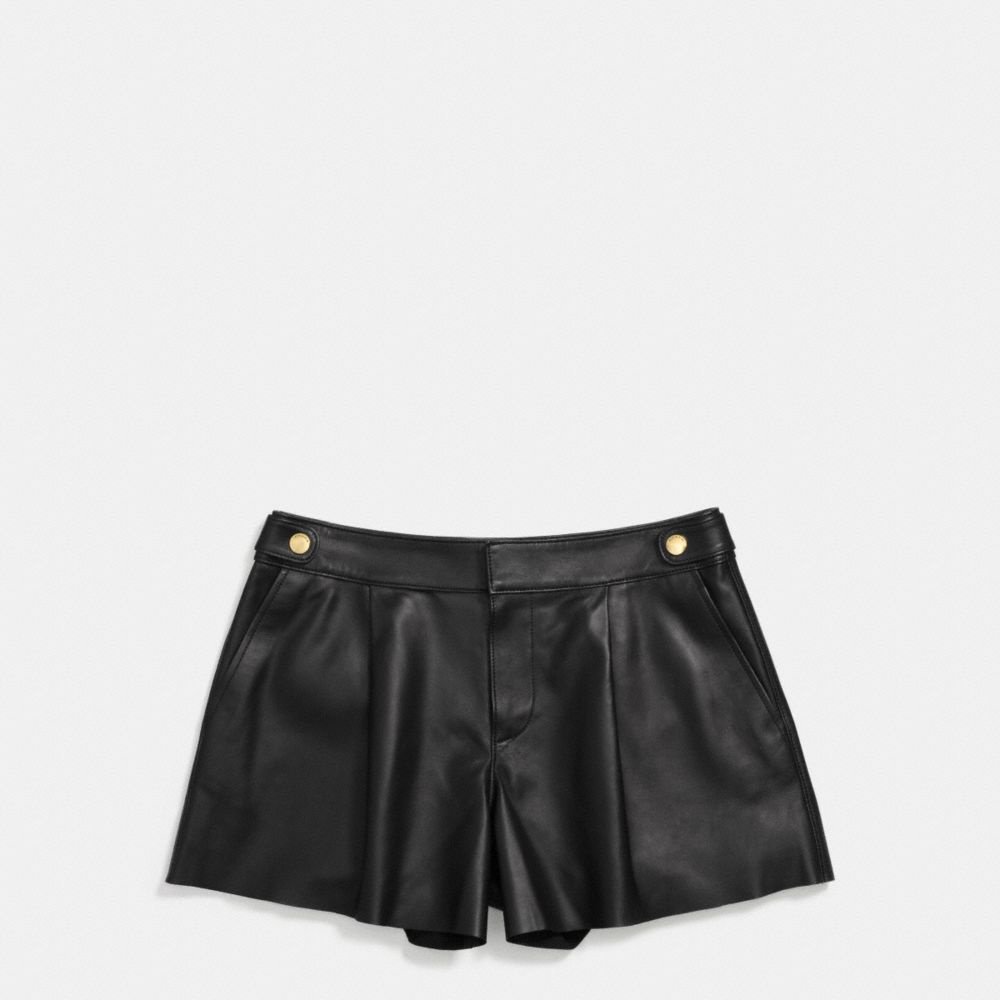 Coach Leather Short Alternate View 1