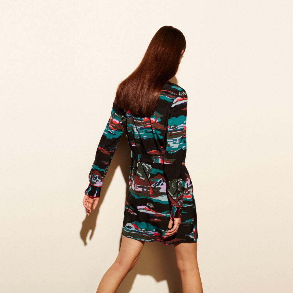 Souvenir Sky Silk Dress - Alternate View M1
