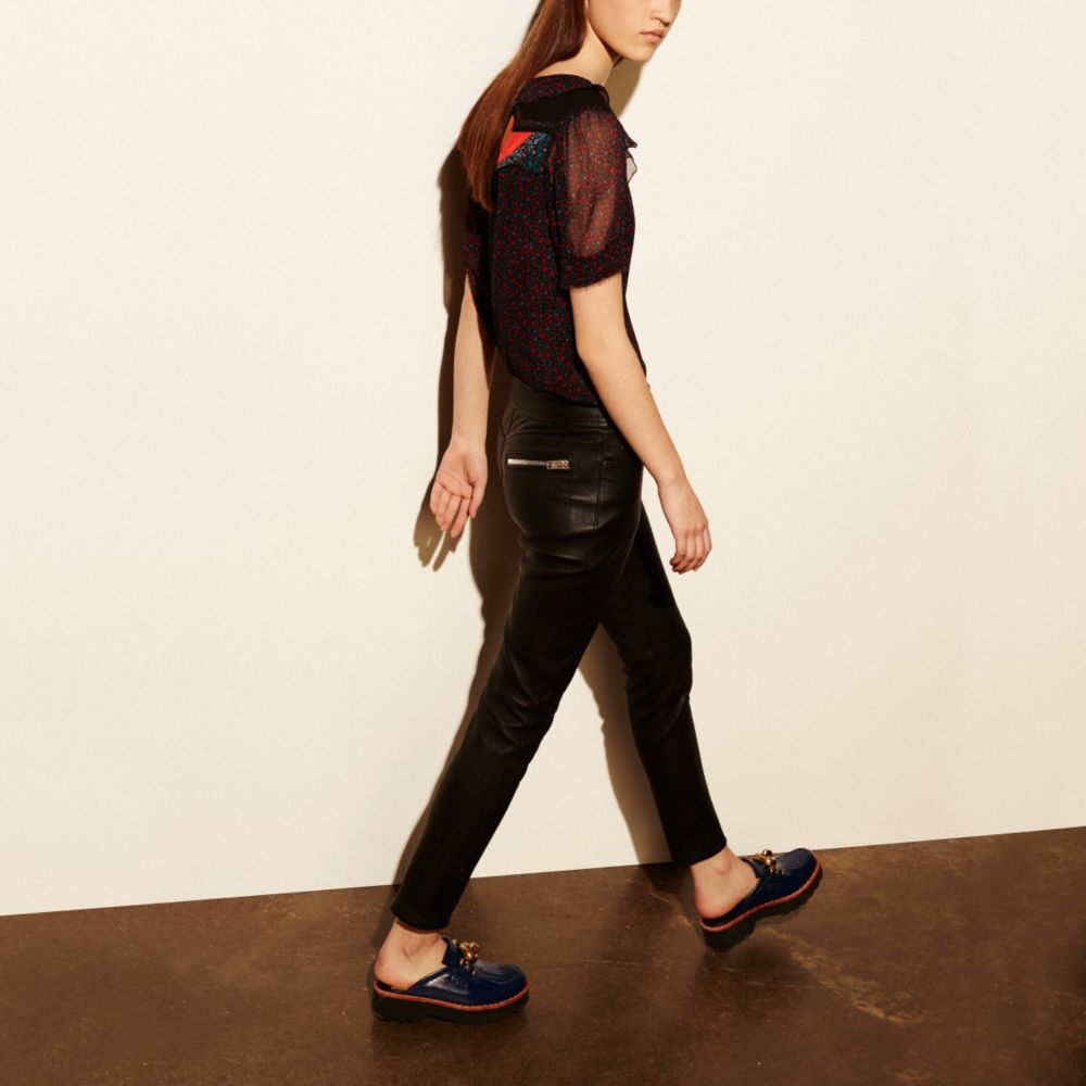 Stretch Leather Jean - Alternate View M