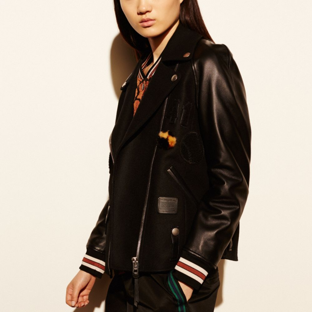 Coach Baseball Moto Jacket