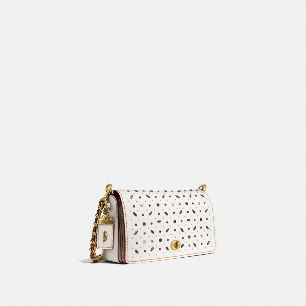RIVETS DINKY CROSSBODY IN PEBBLE LEATHER - Alternate View
