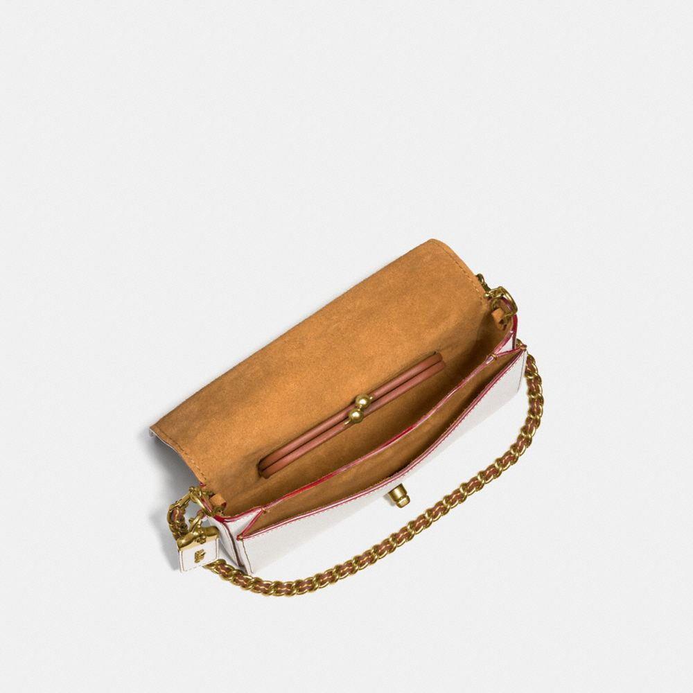 Rivets Dinky Crossbody in Pebble Leather - Alternate View A3