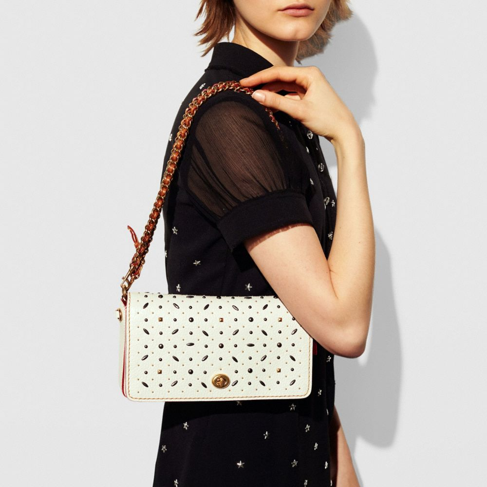 Rivets Dinky Crossbody in Pebble Leather - Alternate View A5