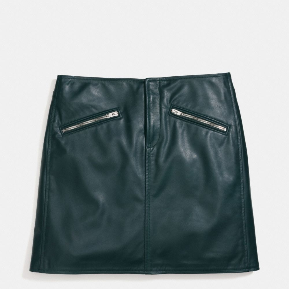 Leather Skirt - Alternate View A1