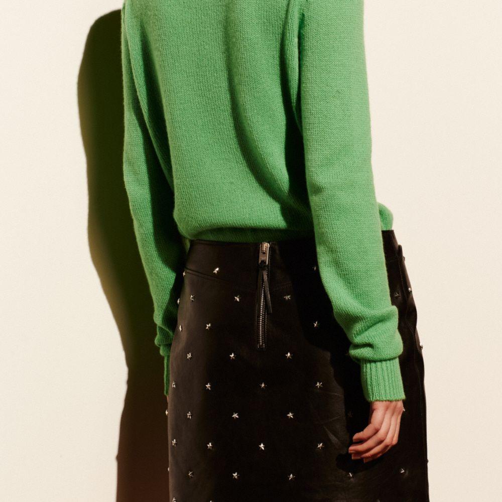 Star Stud Leather Mini Skirt - Alternate View M2