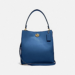 CHARLIE BUCKET BAG - B4/DEEP BLUE - COACH 55200