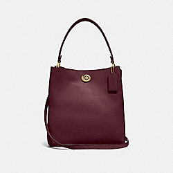 CHARLIE BUCKET BAG - VINTAGE MAUVE/GOLD - COACH 55200