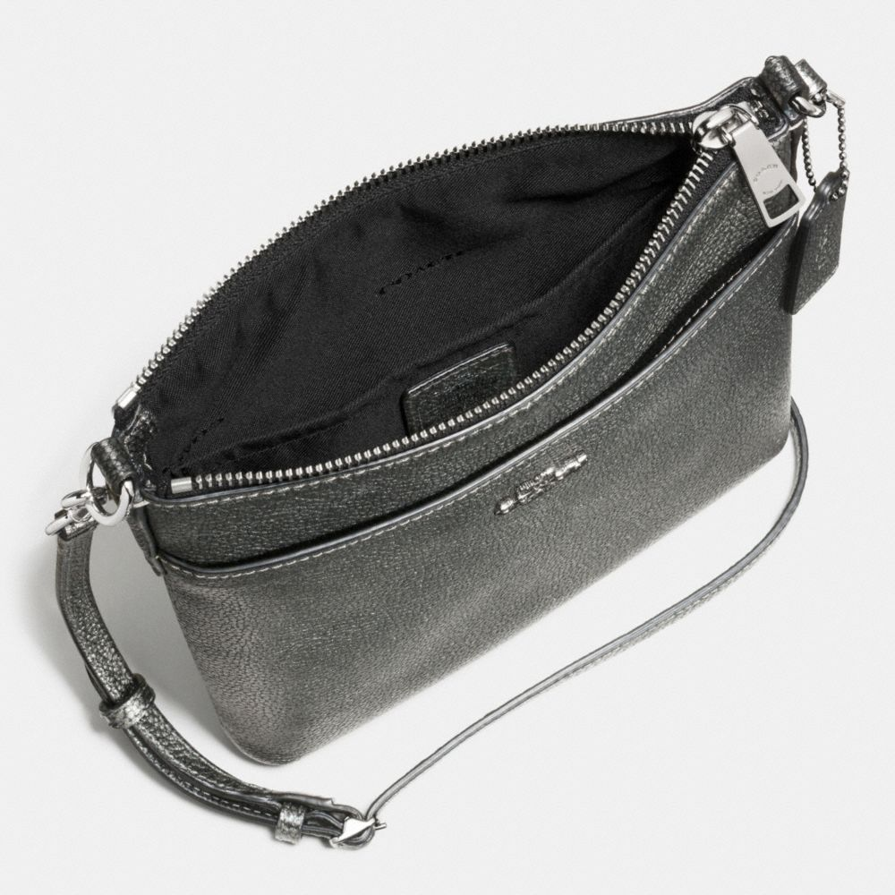 Messenger Crossbody in Polished Pebble Leather - Alternate View A1