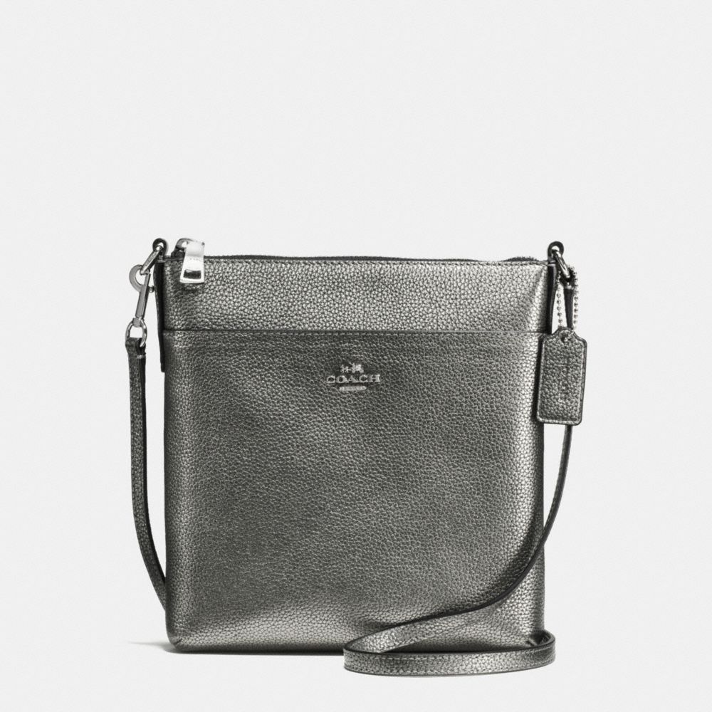 MESSENGER CROSSBODY IN POLISHED PEBBLE LEATHER - Alternate View