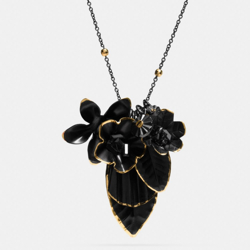 Coach Gilded Flower Necklace