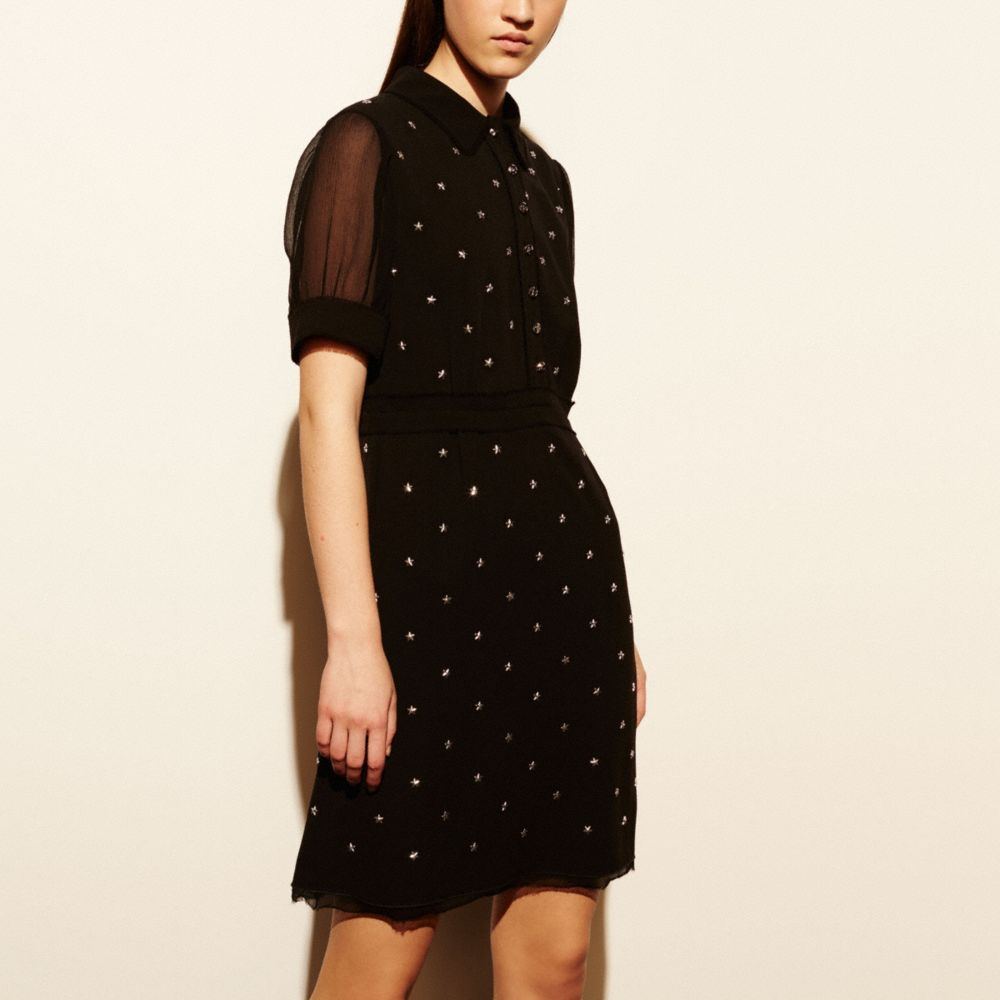 STAR STUD EMBELLISHED DRESS
