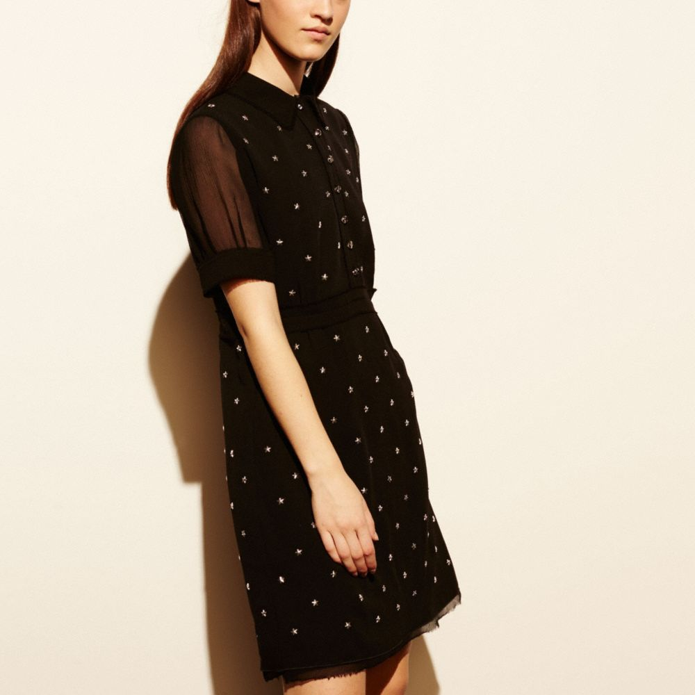 Star Stud Embellished Dress - Alternate View M3
