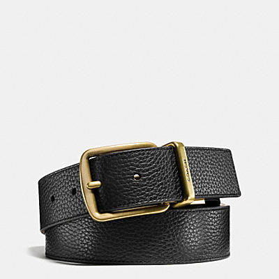 WIDE REGULAR CUT-TO-SIZE REVERSIBLE LEATHER BELT