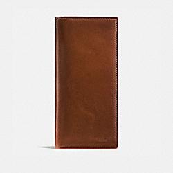 BOXED BREAST POCKET WALLET - DARK SADDLE - COACH 55249B
