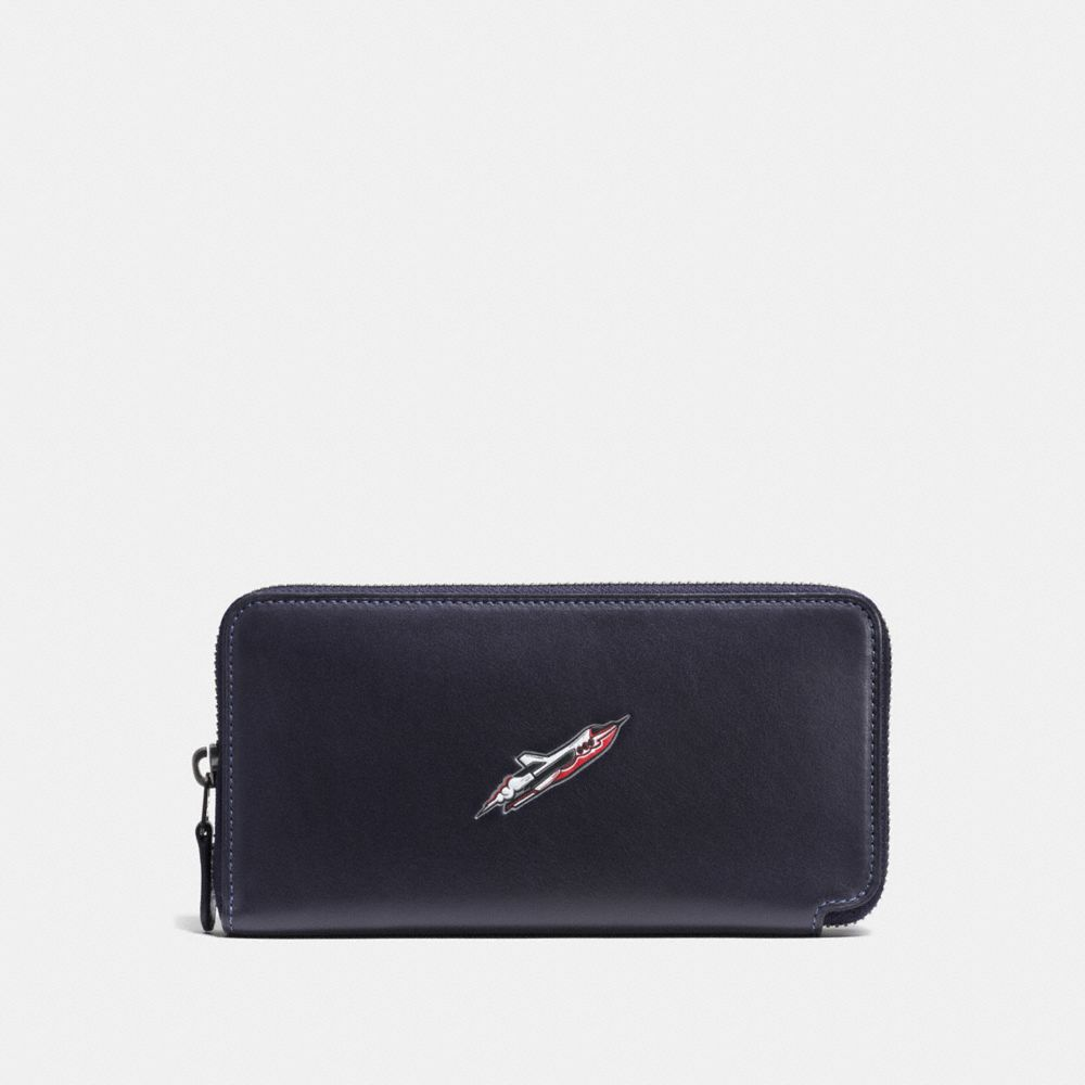 ROCKET SHIP ACCORDION WALLET IN GLOVETANNED LEATHER