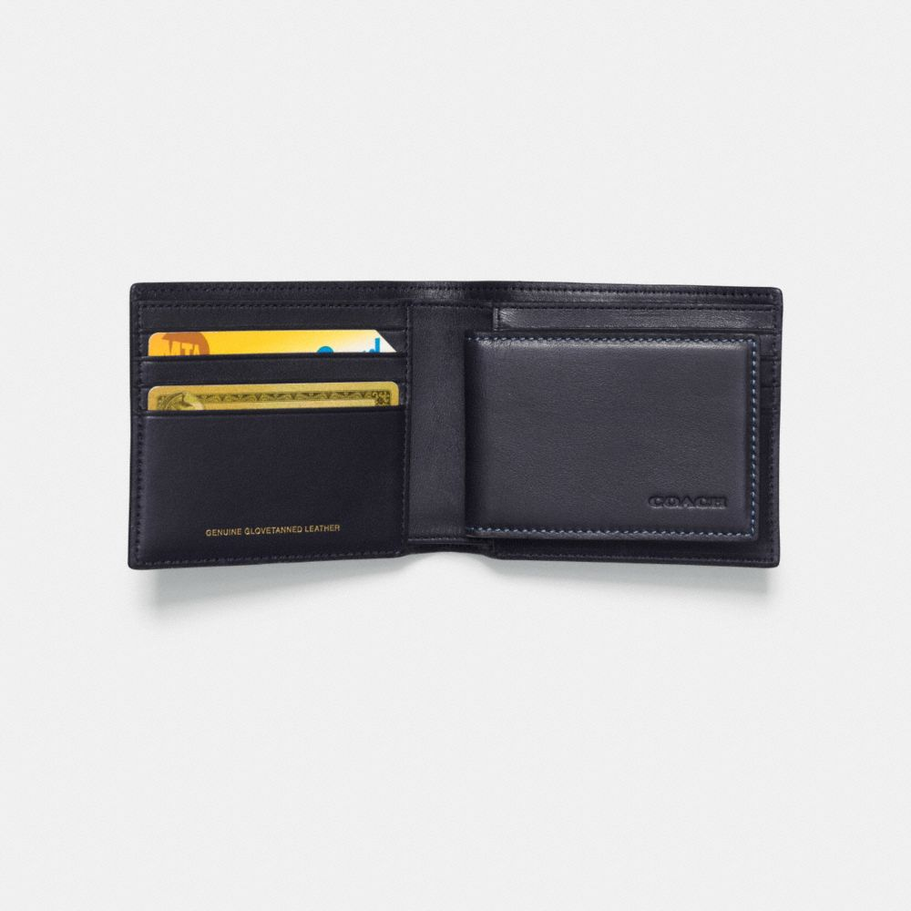 ROCKET SHIP 3-IN-1 WALLET IN GLOVETANNED LEATHER - Alternate View