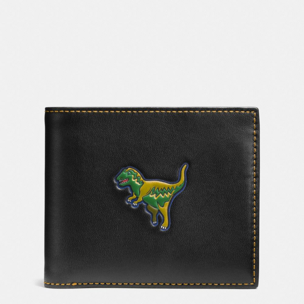 Coach 3-In-1 Wallet in Glovetanned Leather With Rexy