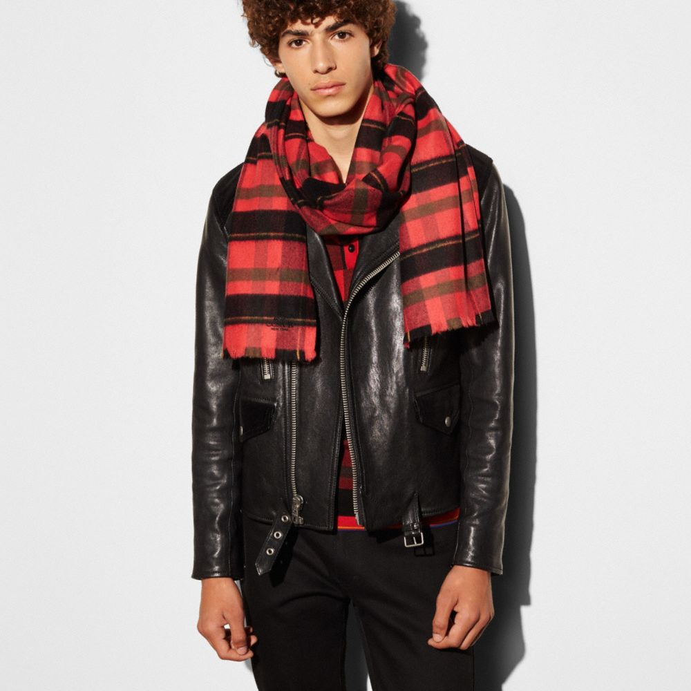 Coach Hybrid Plaid Scarf