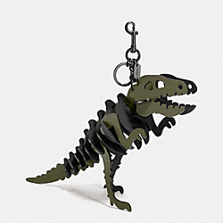 LARGE REXY BAG CHARM - BK/OLIVE BLACK - COACH 55426
