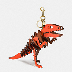 LARGE REXY BAG CHARM - GD/PEPPER SADDLE - COACH 55426