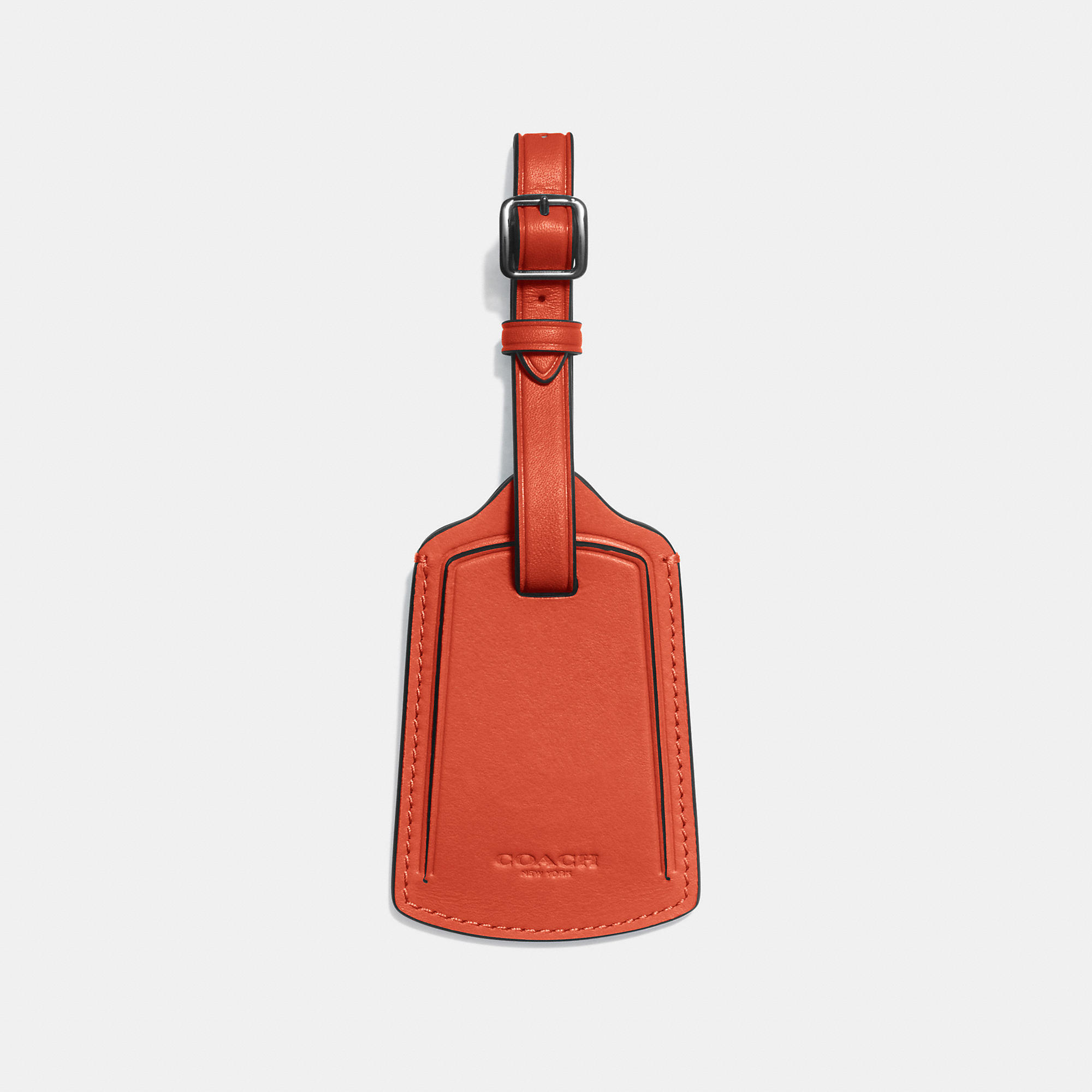 Coach Luggage Tag In Glovetanned Leather