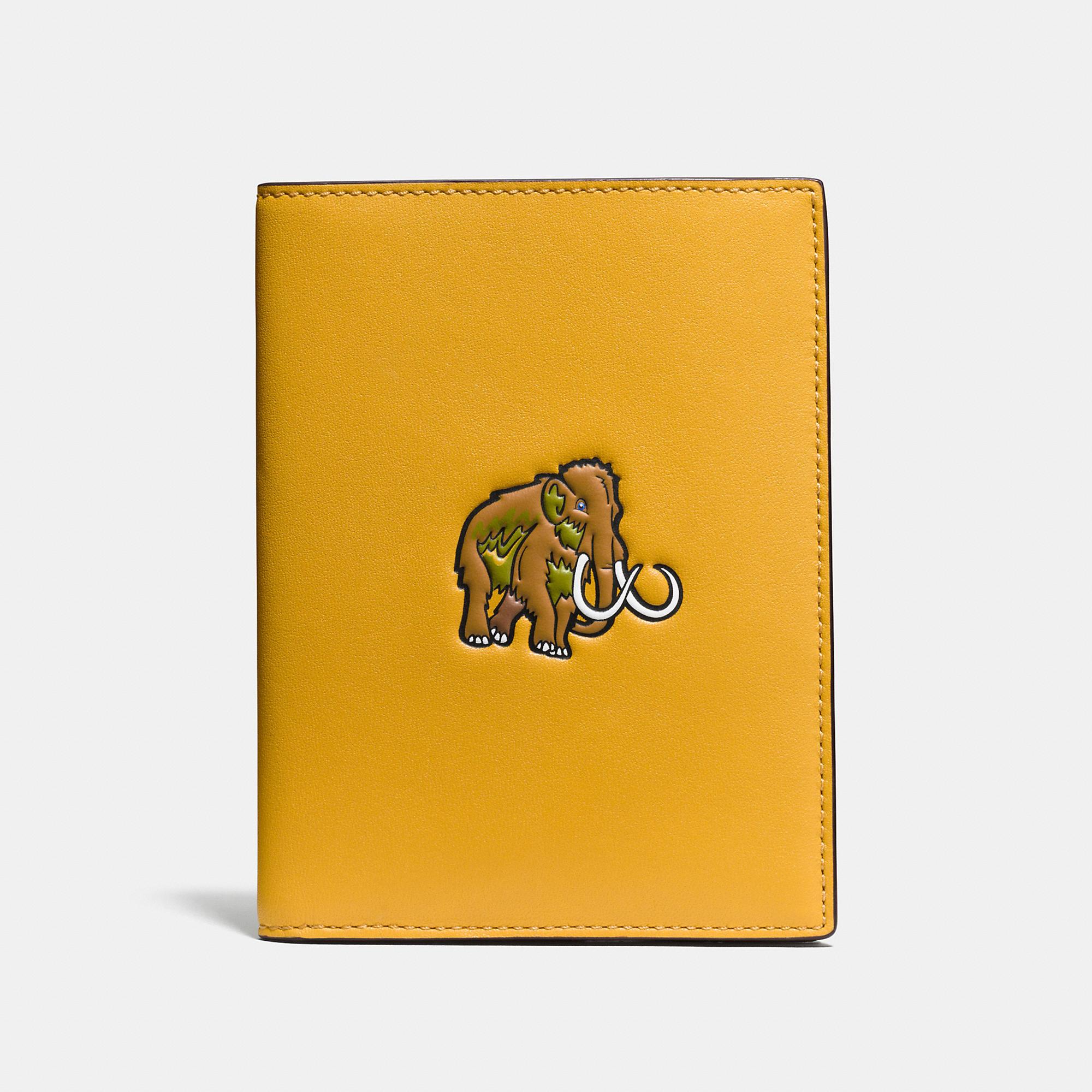 Coach Beast Passport Case In Glovetanned Leather