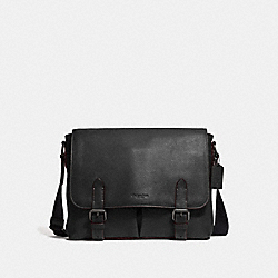 METROPOLITAN SOFT MESSENGER - QB/BLACK - COACH 55552