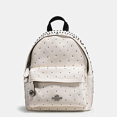 BANDANA RIVETS MINI CAMPUS BACKPACK IN PEBBLE LEATHER