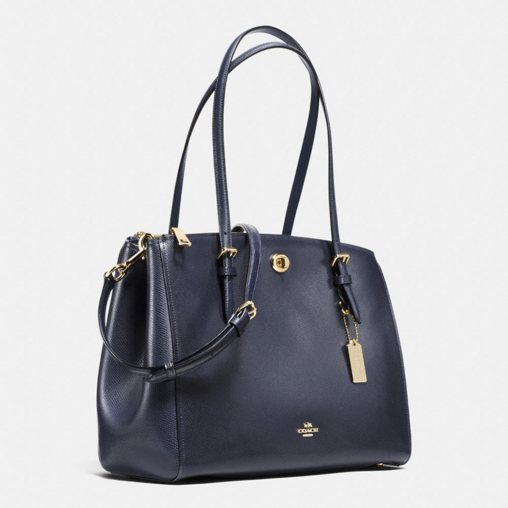 Coach Turnlock Carryall in Crossgrain Leather Alternate View 2