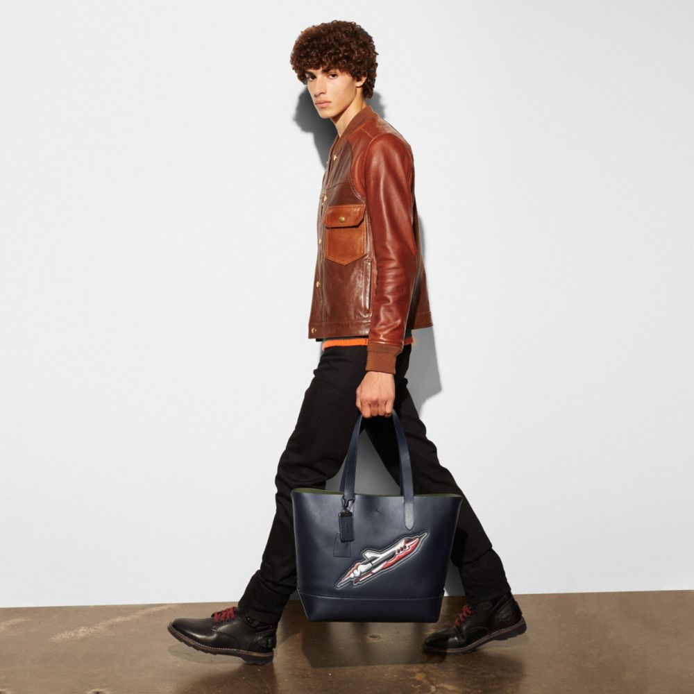 ROCKET SHIP GOTHAM TOTE IN GLOVETANNED LEATHER - Alternate View A4