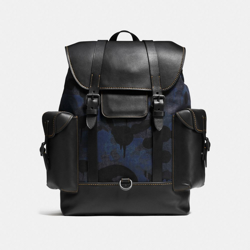 Gotham Backpack in Wild Beast Print Denim