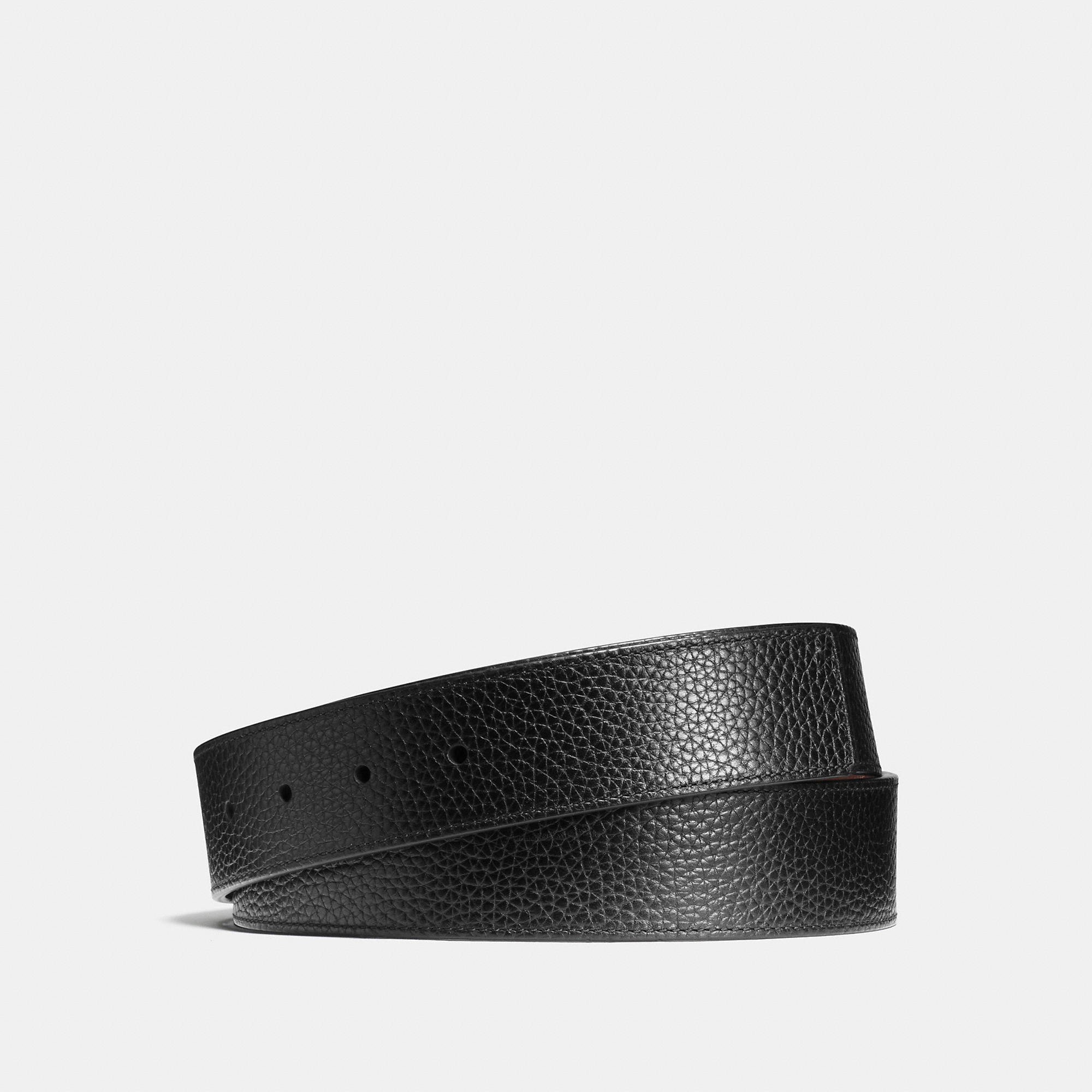 Coach Cut-to-size Reversible Leather Belt Strap