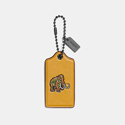 WOOLY棒球手套鞣製皮革吊牌