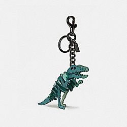 SMALL REXY BAG CHARM - BK/MARINE - COACH 55868