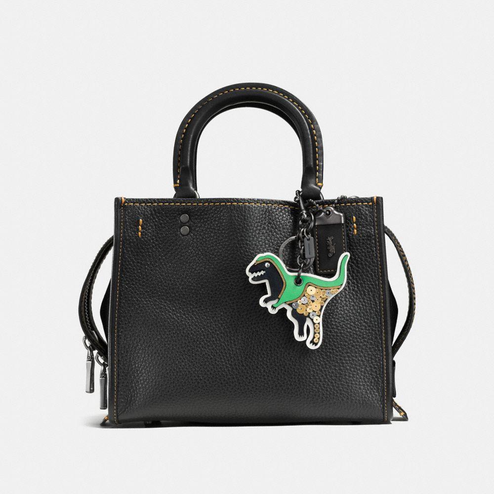 Glitter Dinosaur Patch Bag Charm - Alternate View A1