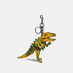 MEDIUM REXY BAG CHARM - DK/FLAX/CITRINE - COACH 56155