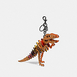 MEDIUM REXY BAG CHARM - SADDLE/RAINBOW - COACH 56155