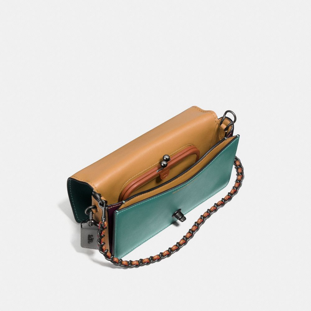 Colorblock Dinky Crossbody in Mixed Materials - Alternate View A2