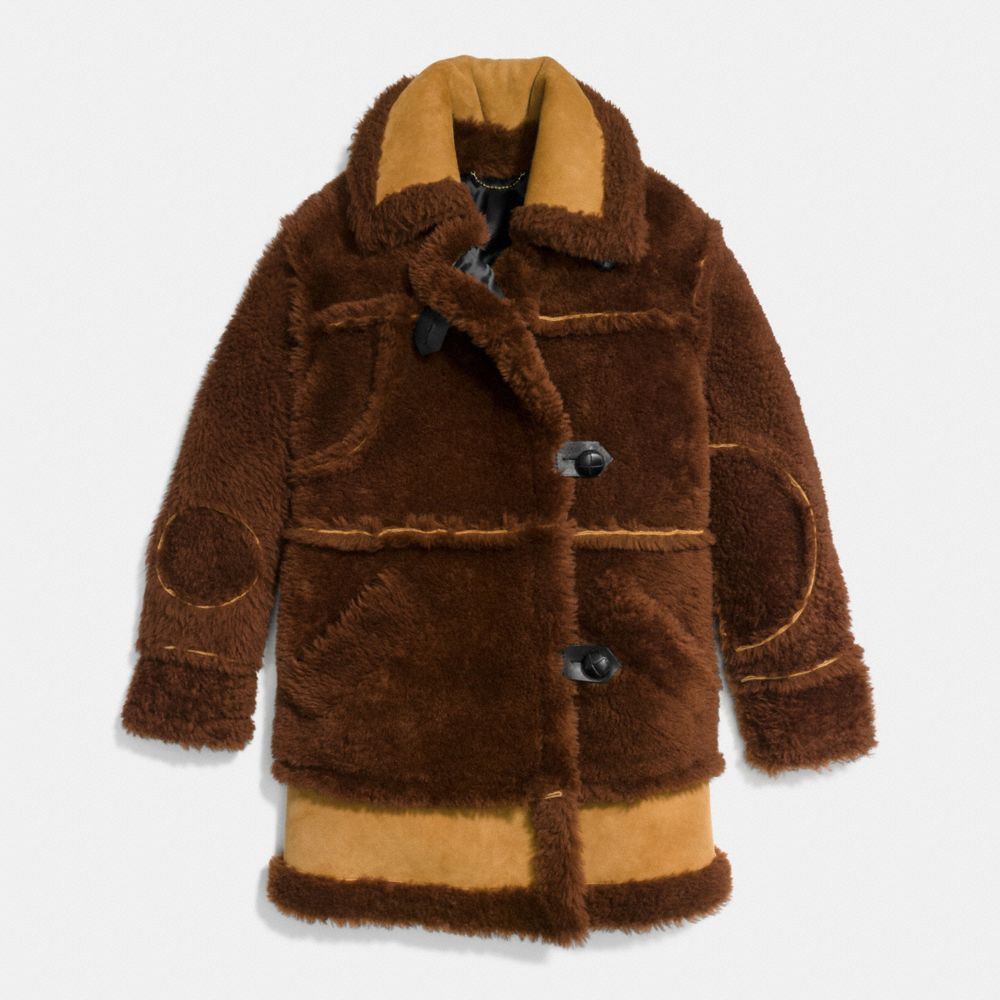Inside Out Shearling Coat - Alternate View A1
