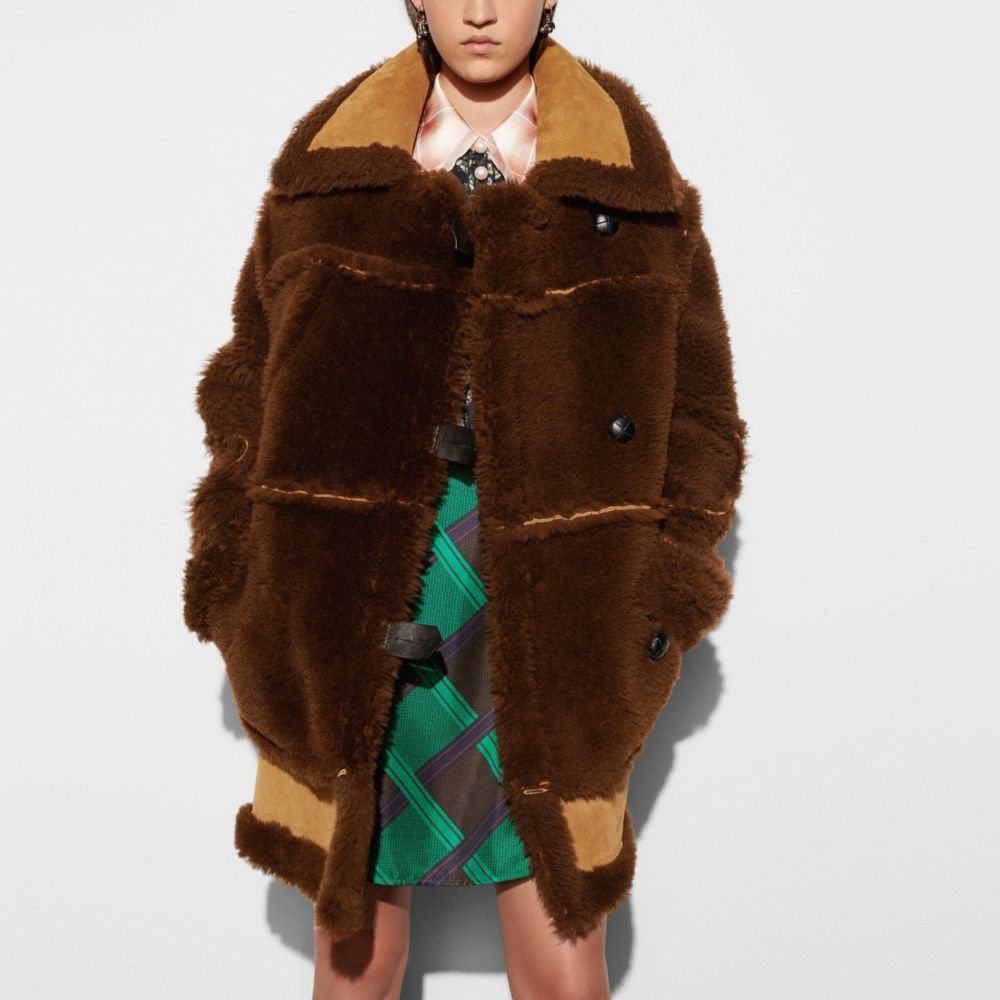 Inside Out Shearling Coat - Alternate View M1