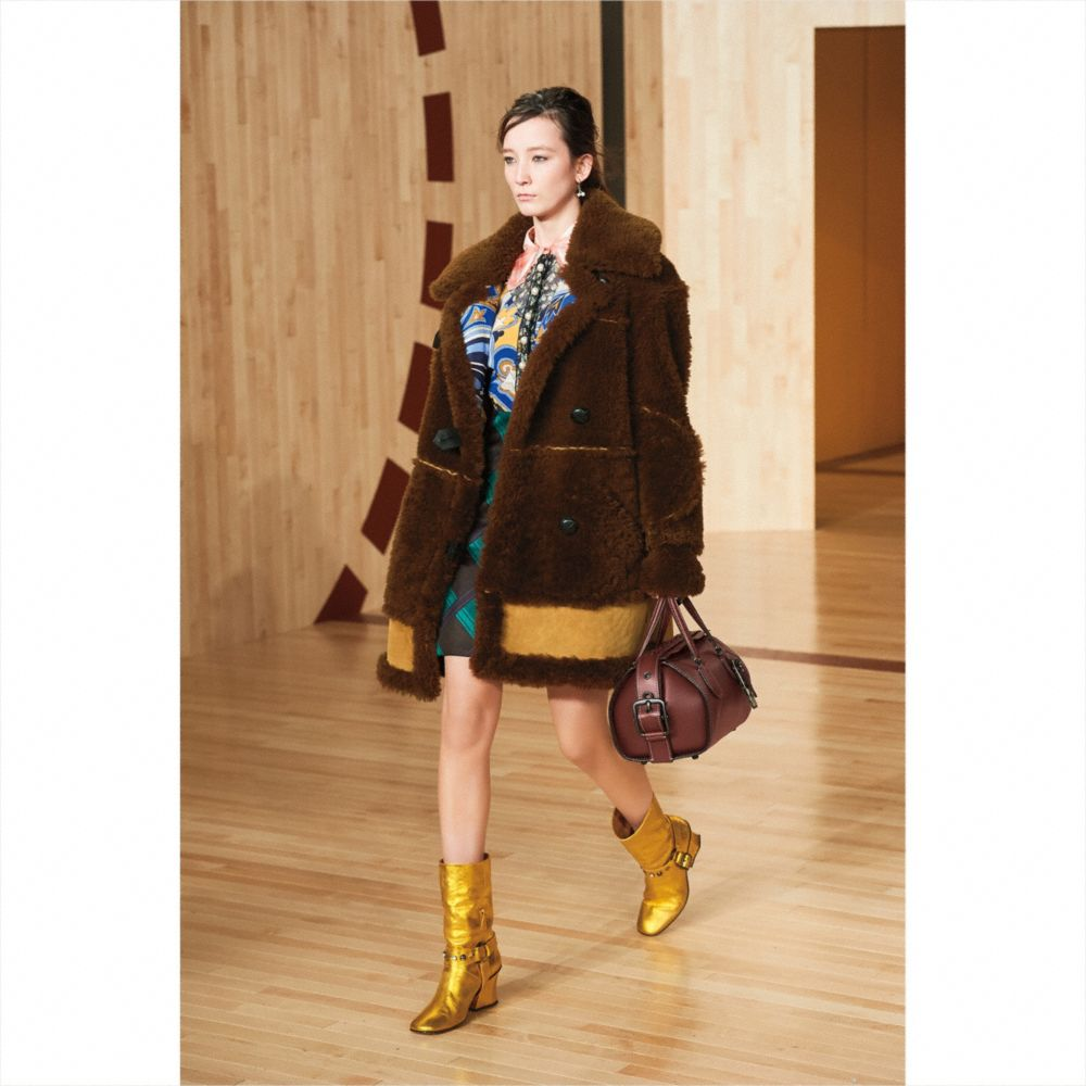 Coach Inside Out Shearling Coat Alternate View 3