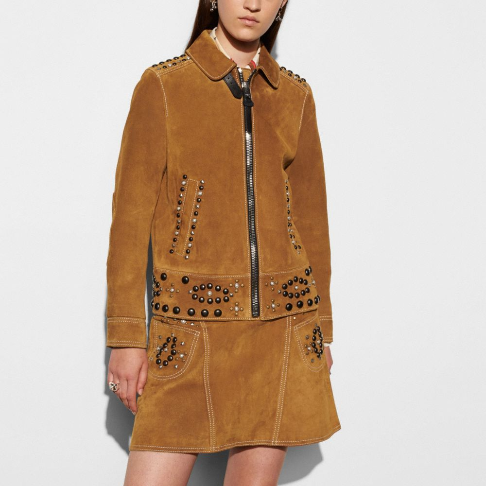Coach Suede Jacket With Studs