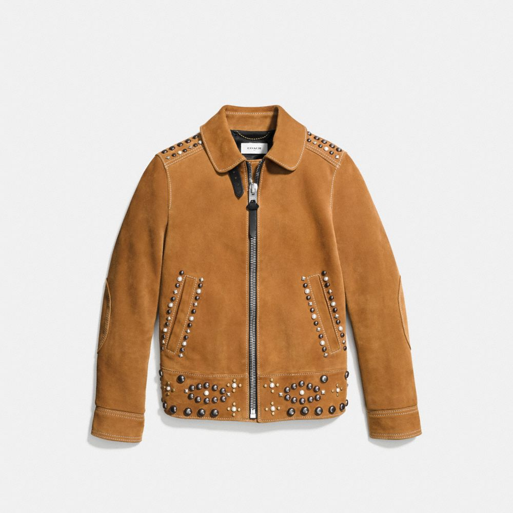 Coach Suede Jacket With Studs Alternate View 1