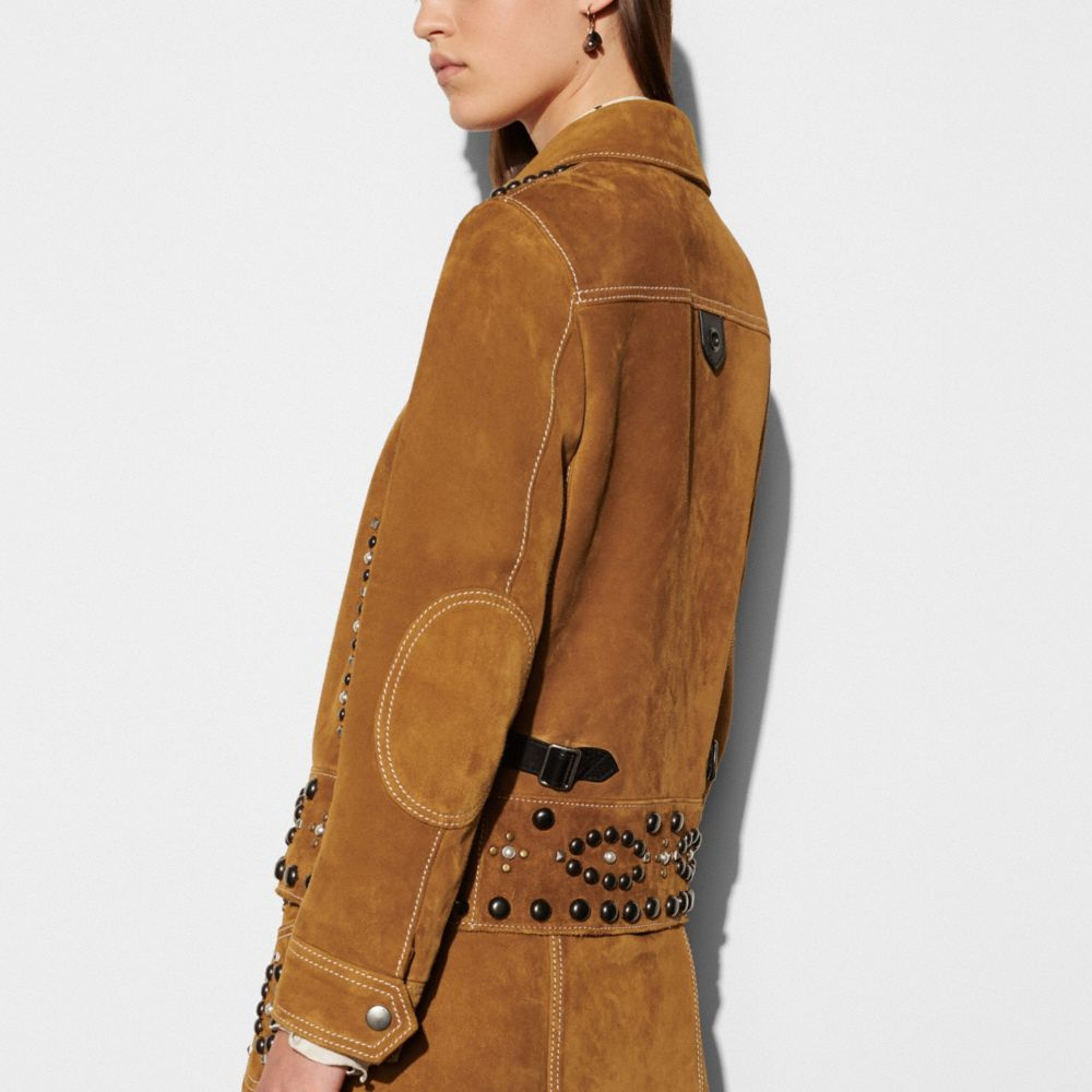 Suede Jacket With Studs - Alternate View M