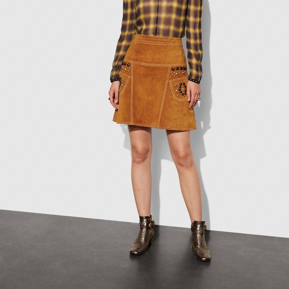A-Line Skirt With Studs - Alternate View A1
