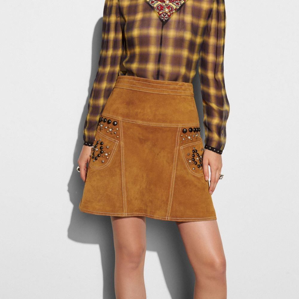 A-Line Skirt With Studs - Alternate View M