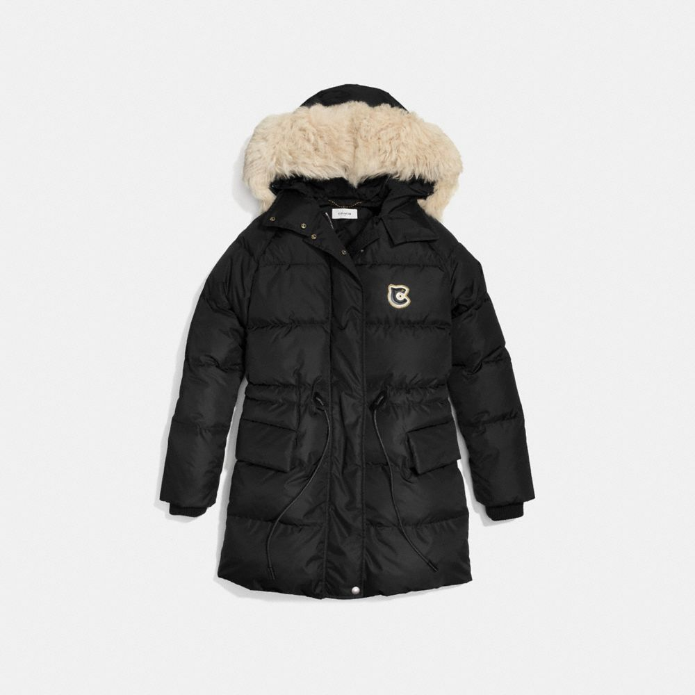 Coach Nylon Puffer Coat